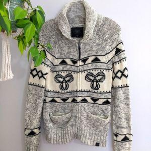 TNA Lamb wool zipup Jacket